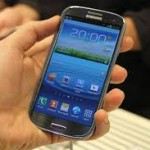 Picture of a Samsung Galaxy S3 mobile phone.