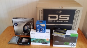 The components for my server, still unpacked.